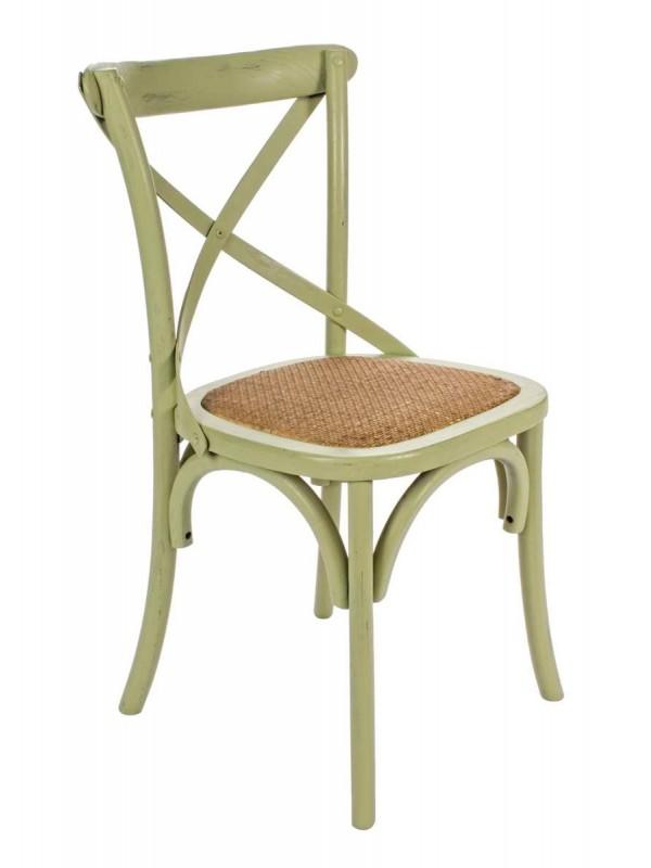 Καρέκλα  CROSS GREEN 46x42x87 εκ.