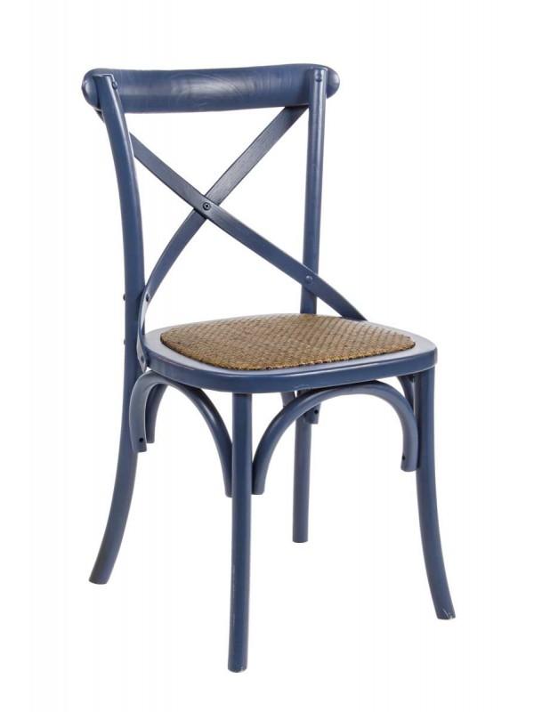 Καρέκλα  CROSS BLUE 46x42x87 εκ.