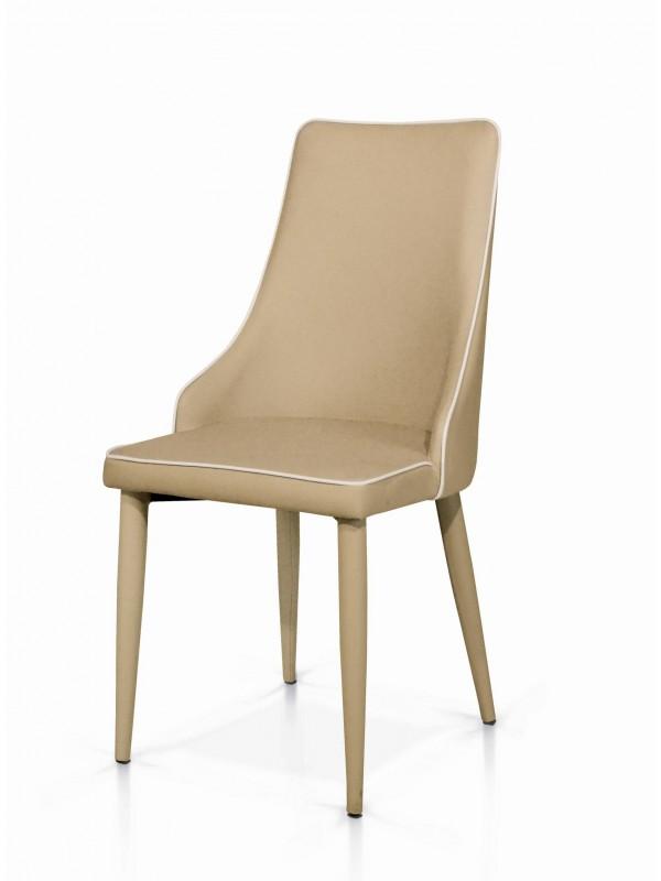 Καρέκλα Beige Stripes Modern Collection 45x42x95 εκ.