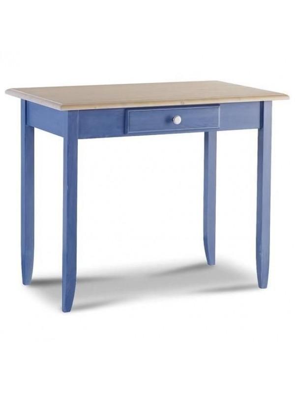 Παιδικό Γραφείο μασίφ ξύλινο BLU σε μπλε χρωματισμό με 1 συρτάρι 99x61x80 εκ.