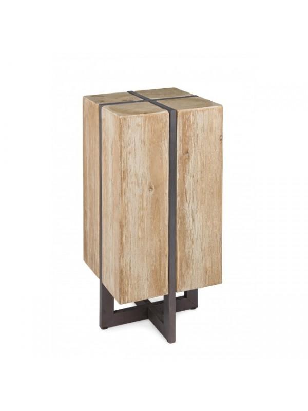 Σκαμπώ GARRETT από ξύλο έλατο 32x32x70 εκ.