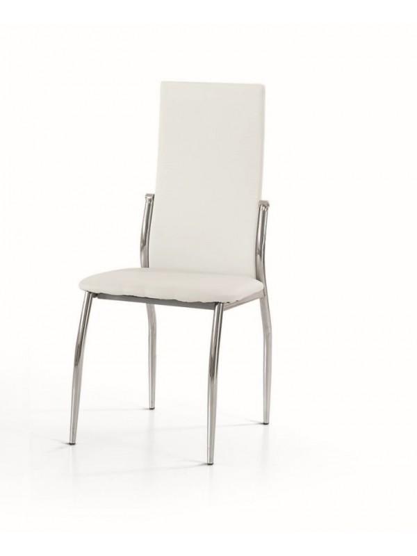 Καρέκλα Beige modern style με μεταλλικά πόδια