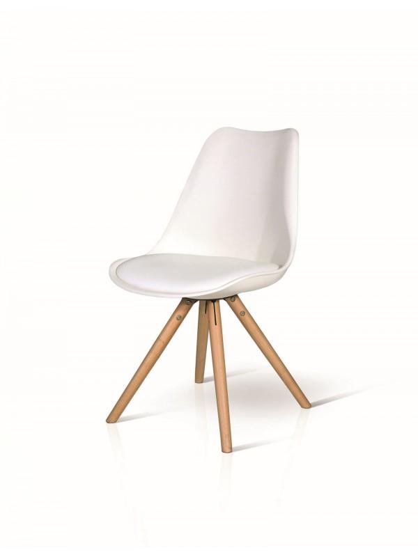 Καρέκλα bianco wood modern colection