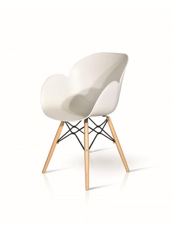 Καρέκλα Bianco wood modern collection