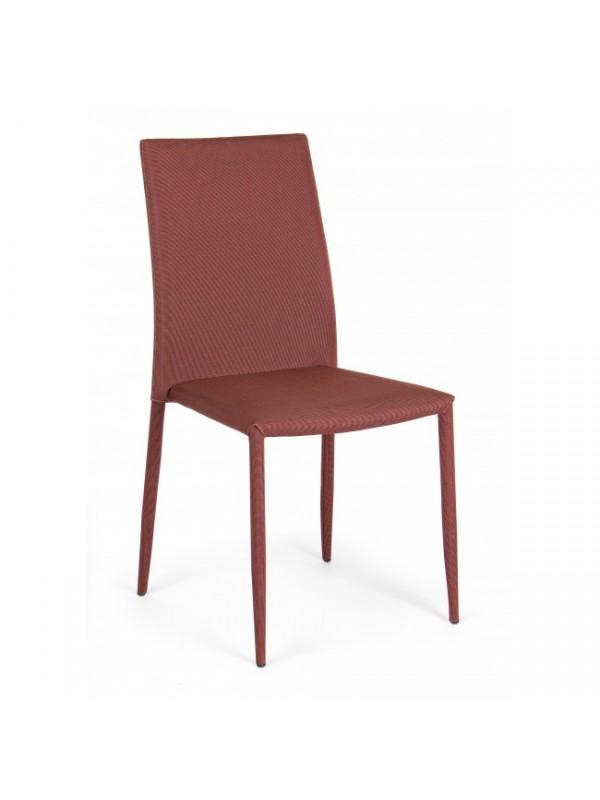 Καρέκλα στοιβαζόμενη από πολυεστερικό ύφασμα και μεταλλική δομή IVY ORANGE 42x51,5x90,5 εκ.